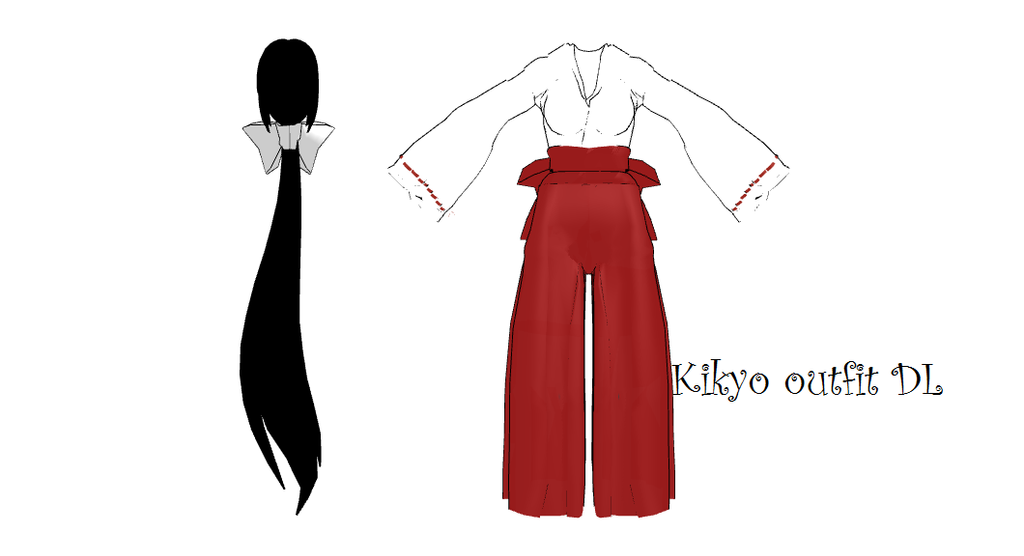 MMD Kikyo Outfit DL By 2234083174 On DeviantArt