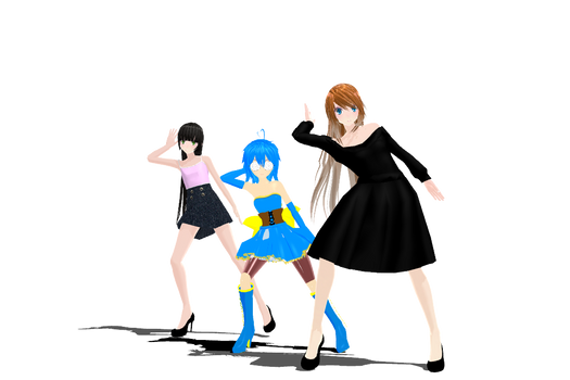 [MMD PhysicsTest]Nee-Skylar Tami and Flee-Video-