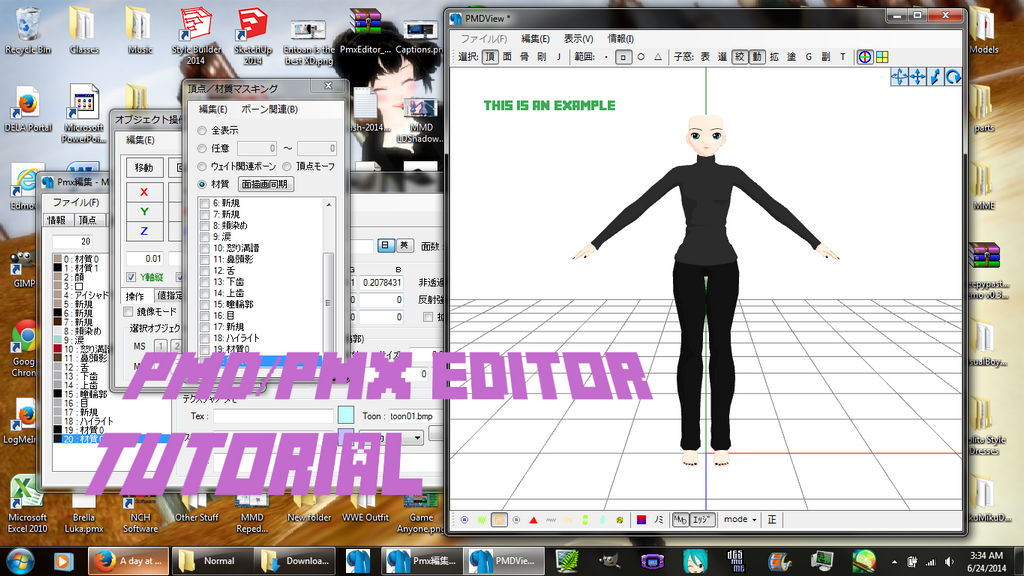 Pmd editor how to make a model