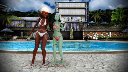 MMD Monster Prom Amira and Vicky Candidi Friend