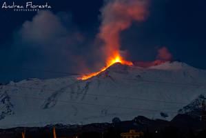 Etna Eruption - 09-02-2012 by OmbraSilente
