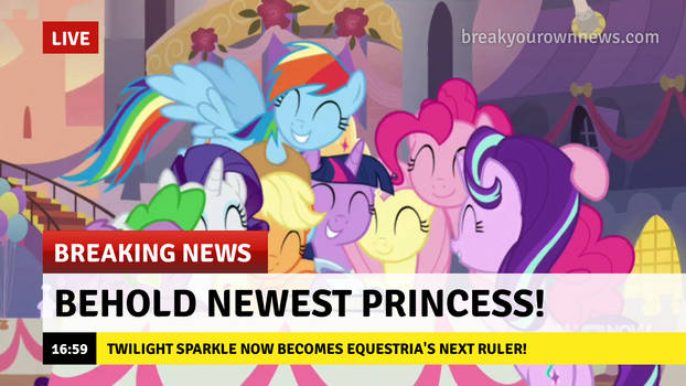 Breaking News #9: The Newest Ruler of Equestria!