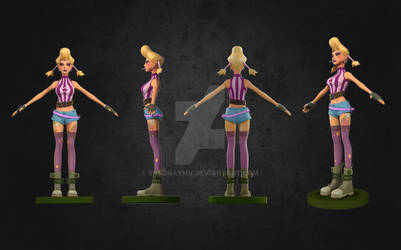 3D character modelling_big gun