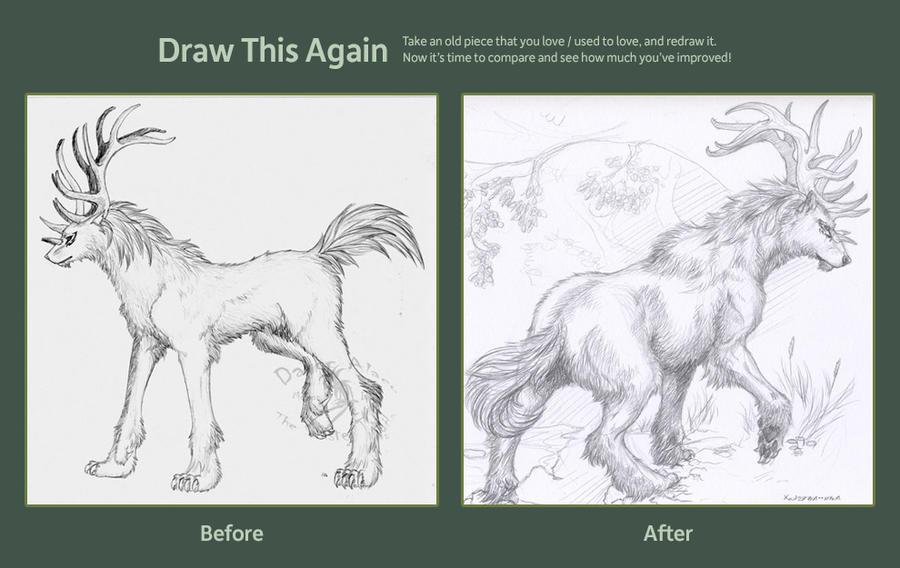 Draw this again meme by Scarlet-Harlequin-N
