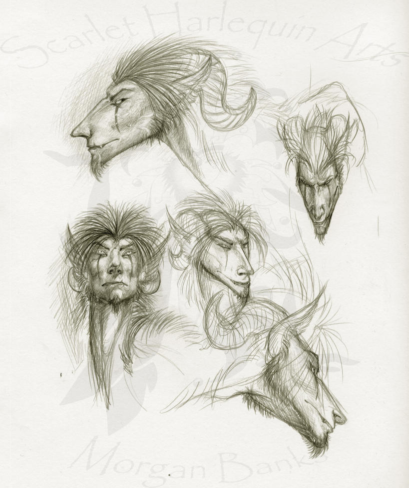 Random -Rajah head studies- by Scarlet-Harlequin-N