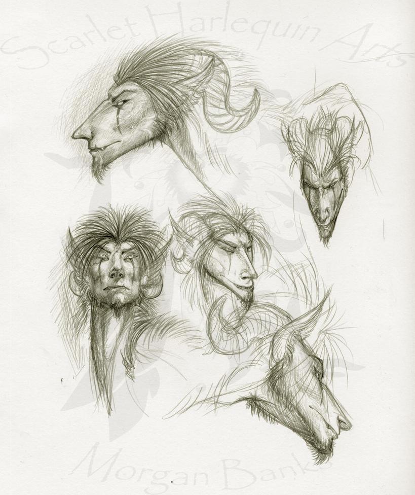 Random -Rajah head studies- by Scarlet-Harlequin-N