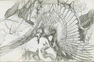 Hup -Roark roar- by Scarlet-Harlequin-N