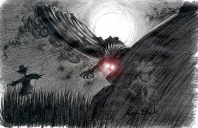 Commission -Mothman- by Scarlet-Harlequin-N