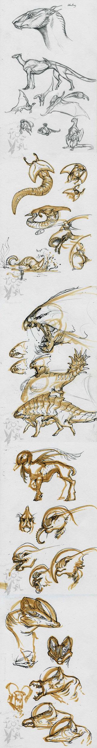 random -creatures- by Scarlet-Harlequin-N