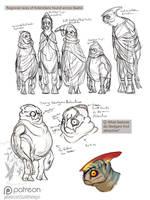 Kolendian sketches by Scarlet-Harlequin-N