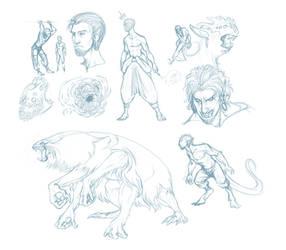 Reto/Hatch doodles by Scarlet-Harlequin-N