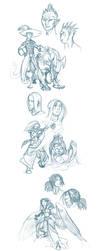 Guild wars 2 doodles by Scarlet-Harlequin-N