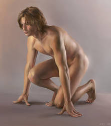 Man - Kneeling by ceruleanvii