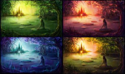landscape concept colorsketch by ceruleanvii