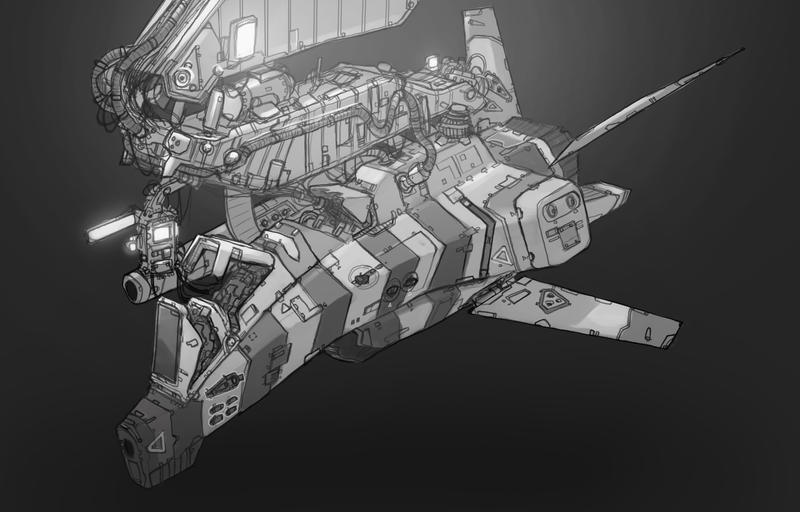 Docked interceptor by Talros