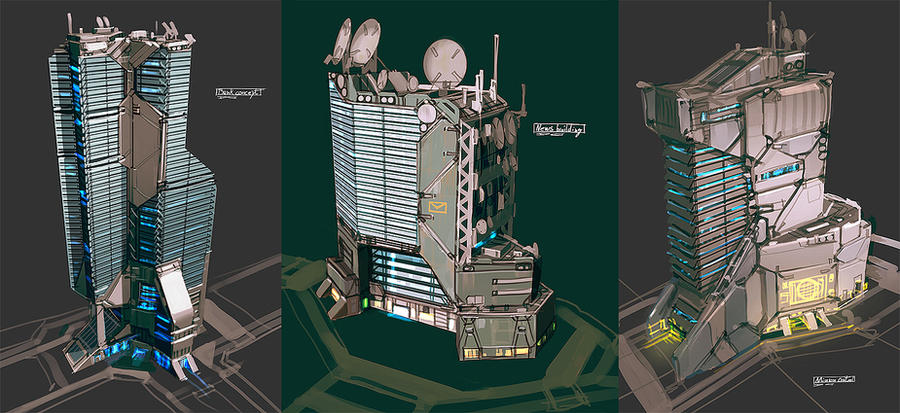 Building concepts by talros on deviantart Concept buildings