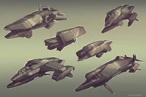 QR civilian ships by Talros