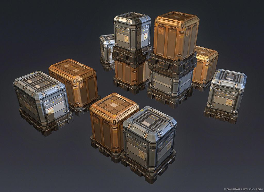 QR 3d Crates #2 by Talros