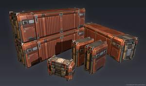 QR 3d Container