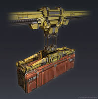 QR 3d Container Crane by Talros