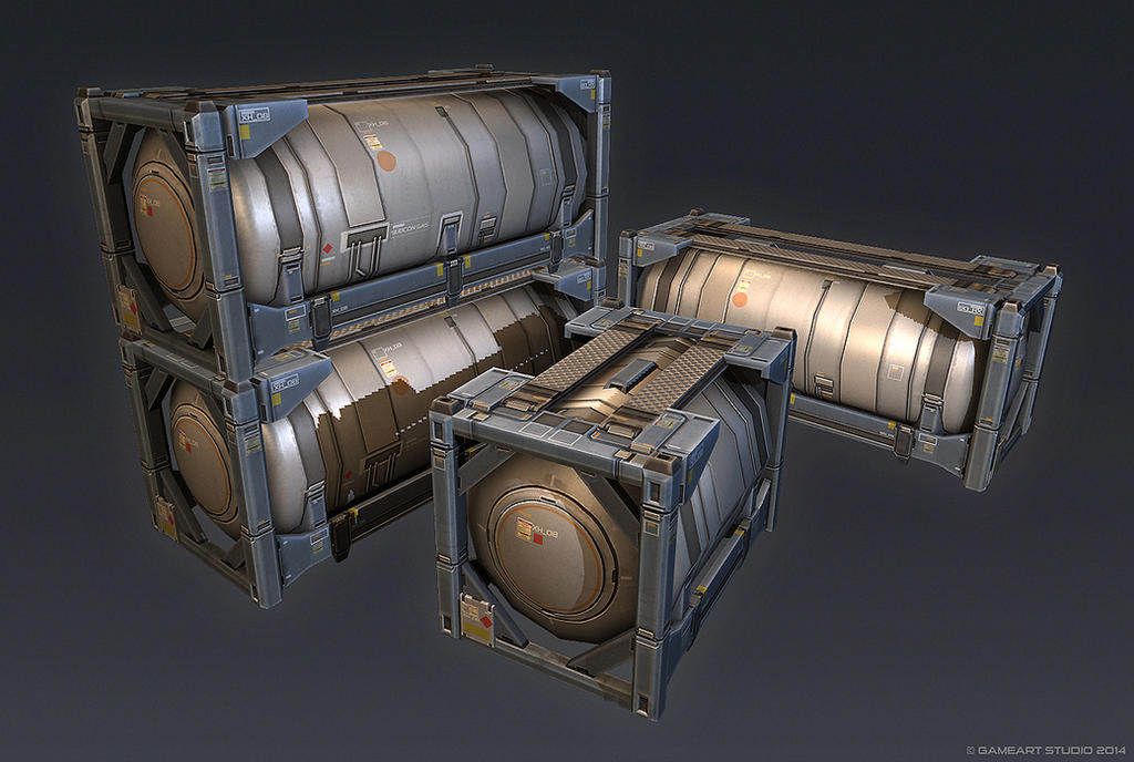 QR 3d Tank Container by Talros