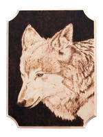 Wolf Woodburning by EdgedFeather
