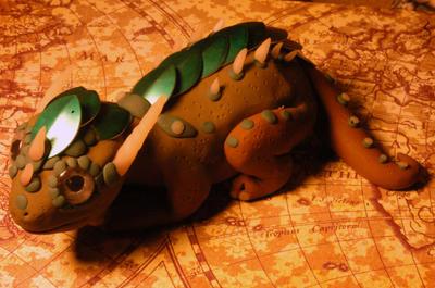 Armored Pygmy Dragon by MyrHansen