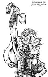 Thor in his viking days