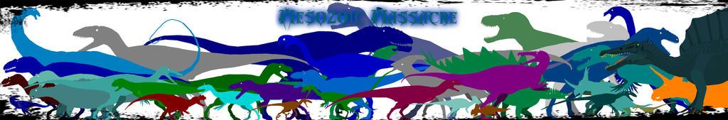 Mesozoic Massacre Wallpaper by theSpinosaurusGuy
