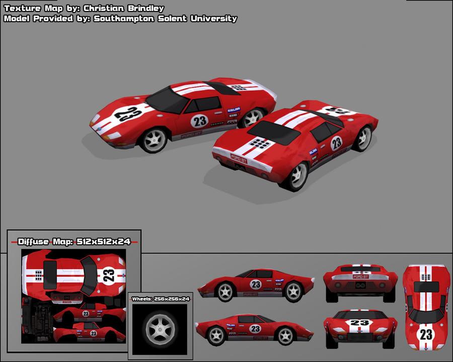 Ford GT 3D Model by ~ darkvegeta13
