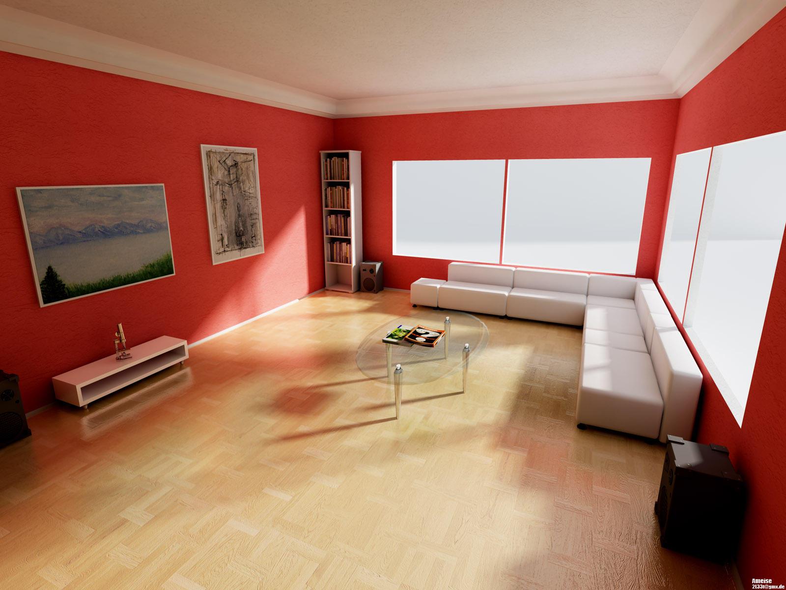 Red room by ameise on deviantart for Ideas para decorar salas modernas