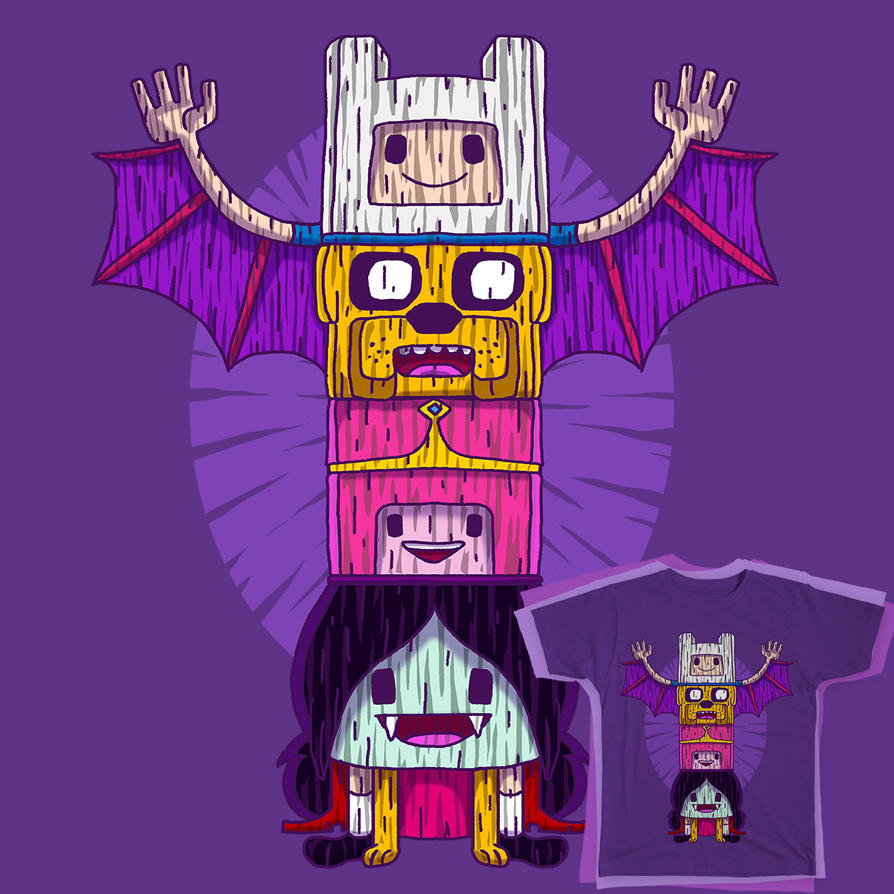 Totemic Time tee by pingolito