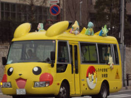 Pokemon Bus by CloverWing