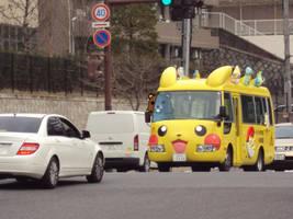 Pedobear's Pikachu Bus by CloverWing