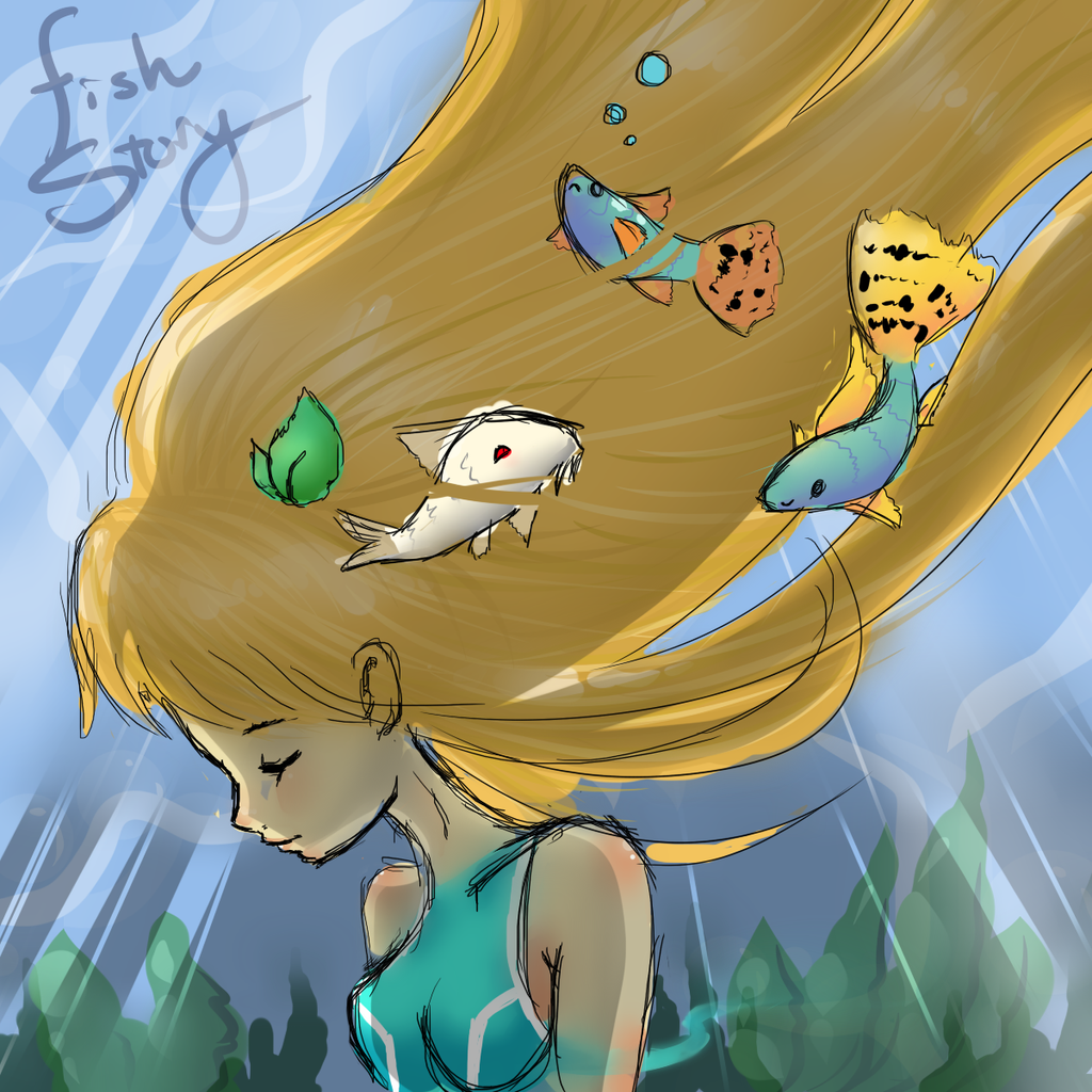 Fish story by cloverwing on deviantart for Fish short story