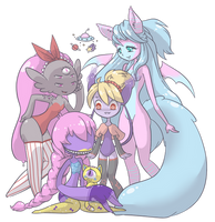 Alien Species Group Pic - FINAL by CloverWing