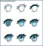 Simple Stylized Eye Tutorial by CloverWing