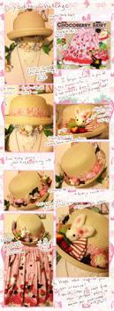 Chocoberry Lolita Hat DIY Tutorial by CloverWing