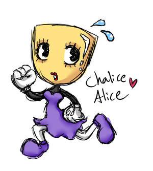 Chalice Alice - Cuphead OC Adoptable
