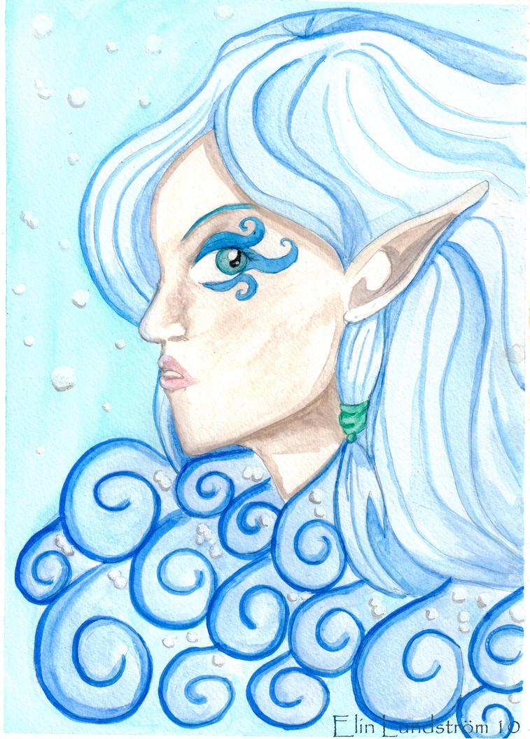 goddess of the sea by kitsune89