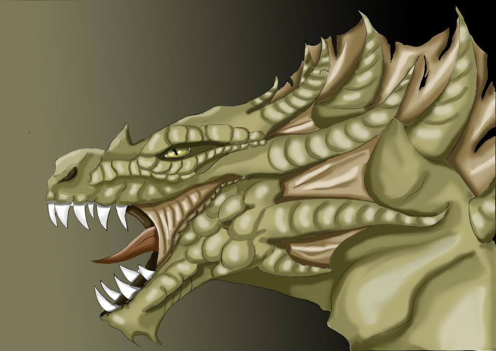 Green Dragon by kitsune89