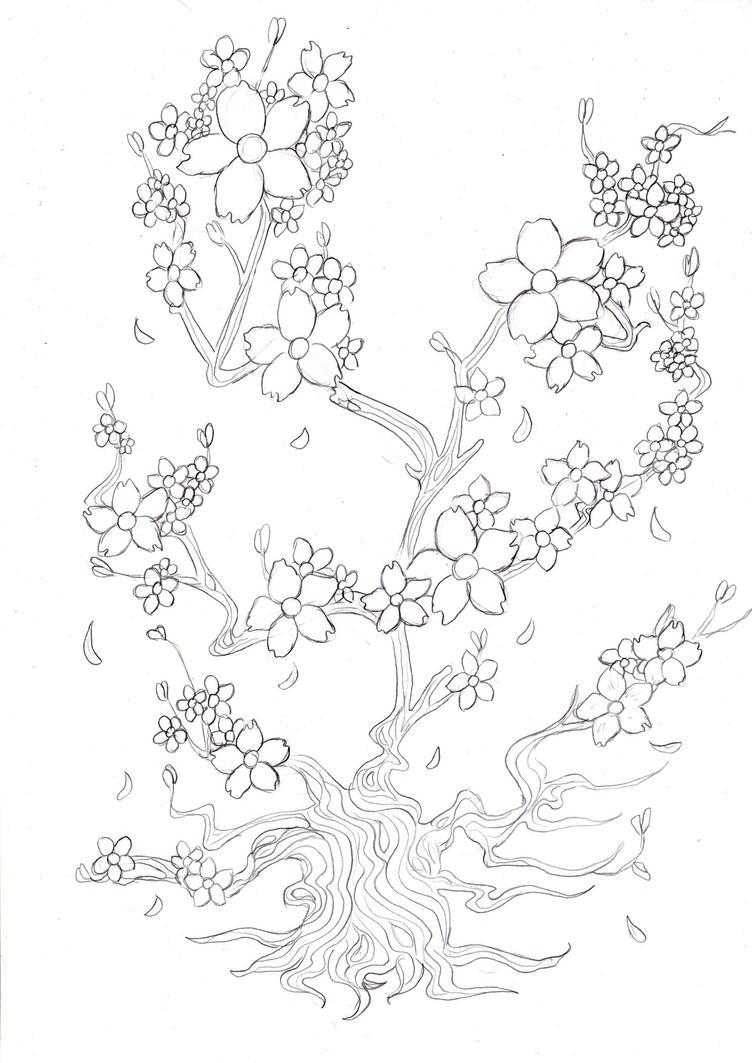 Sakura tree by kitsune89
