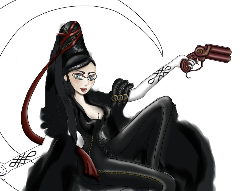 bayonetta work progress by kitsune89