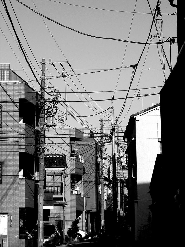 Cables in Tokyo by kitsune89