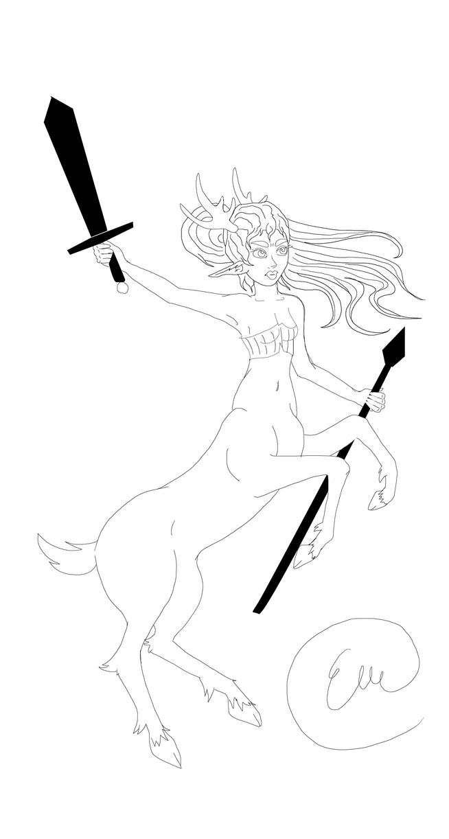 roe deer  centaur by kitsune89