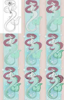 Work progress of my Mermaid