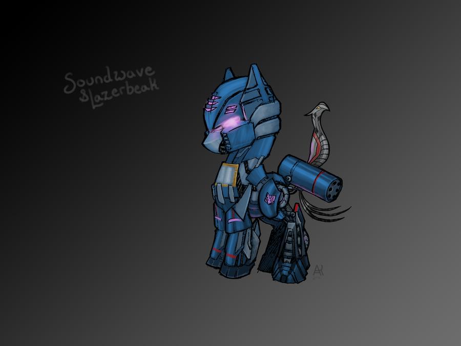 Soundwave and Lazerbeak by PoniesOfTheKeene