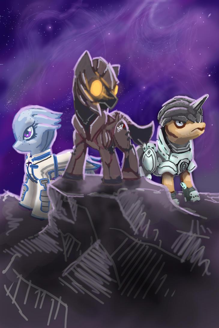 Mass Effect Ponies by PoniesOfTheKeene
