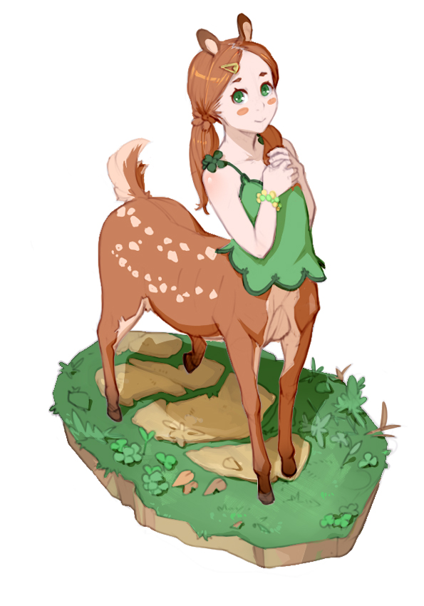 Deer-chan by Materclaws