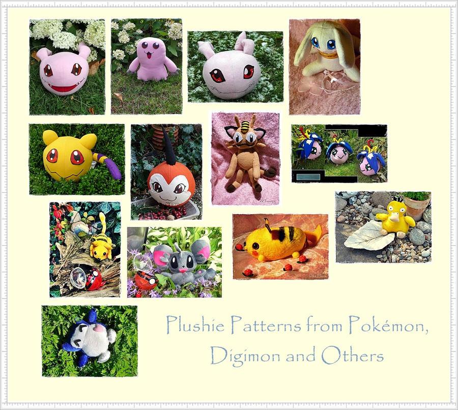 Digimon and Pokemon Plush Patterns by Plushbox on DeviantArt